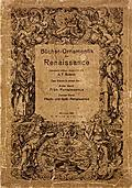 [picture: Book cover, Ornamentik Der Renaissance (Vol. I.)]