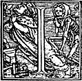 [picture: 62i.---Initial capital letter ``I'' from Dance of Death Alphabet.]