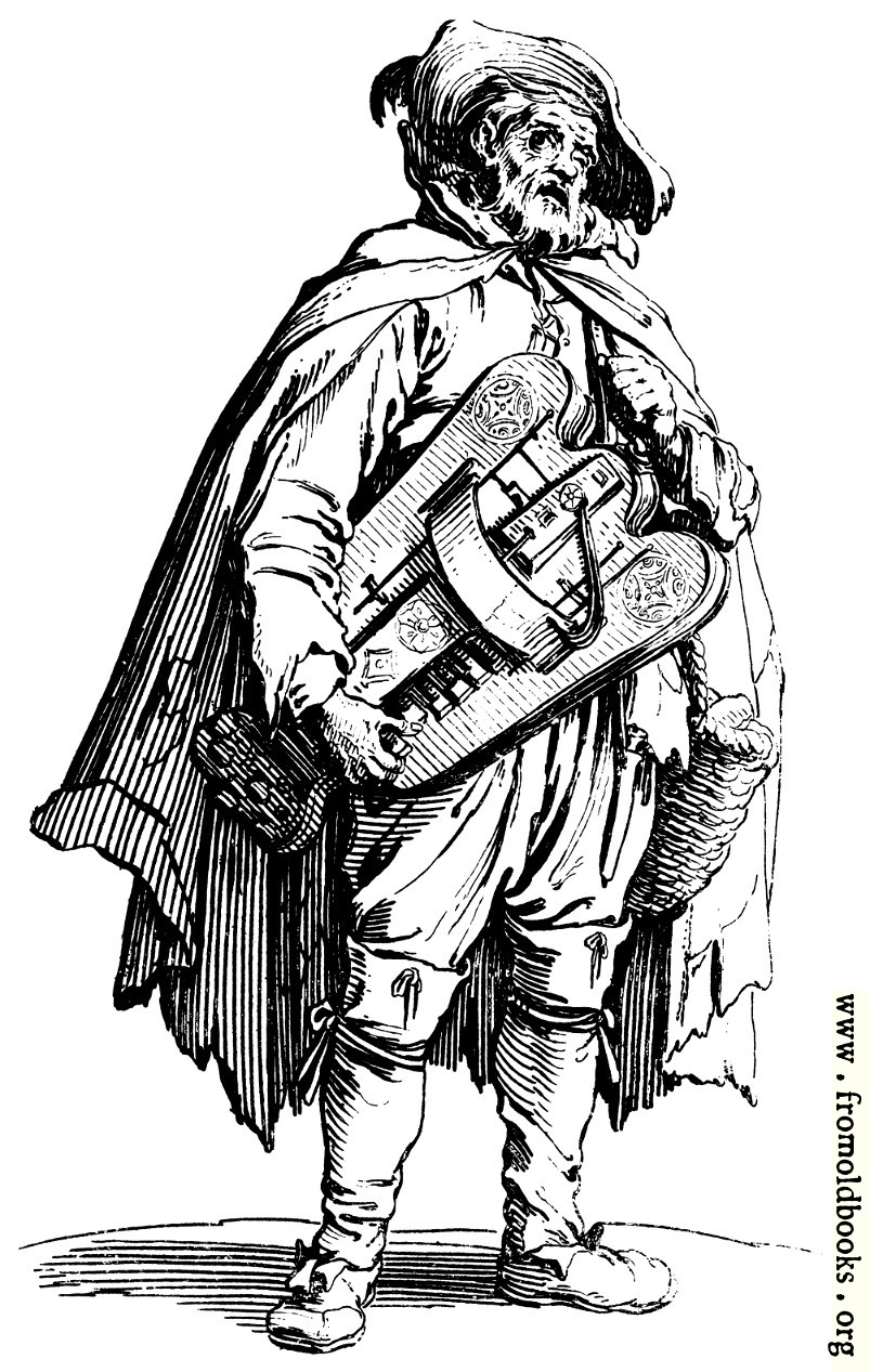 [Picture: 154.—Beggar with Hurdygurdy.]