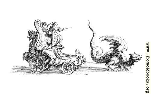 [Picture: Carriage pulled by a Dragon.]