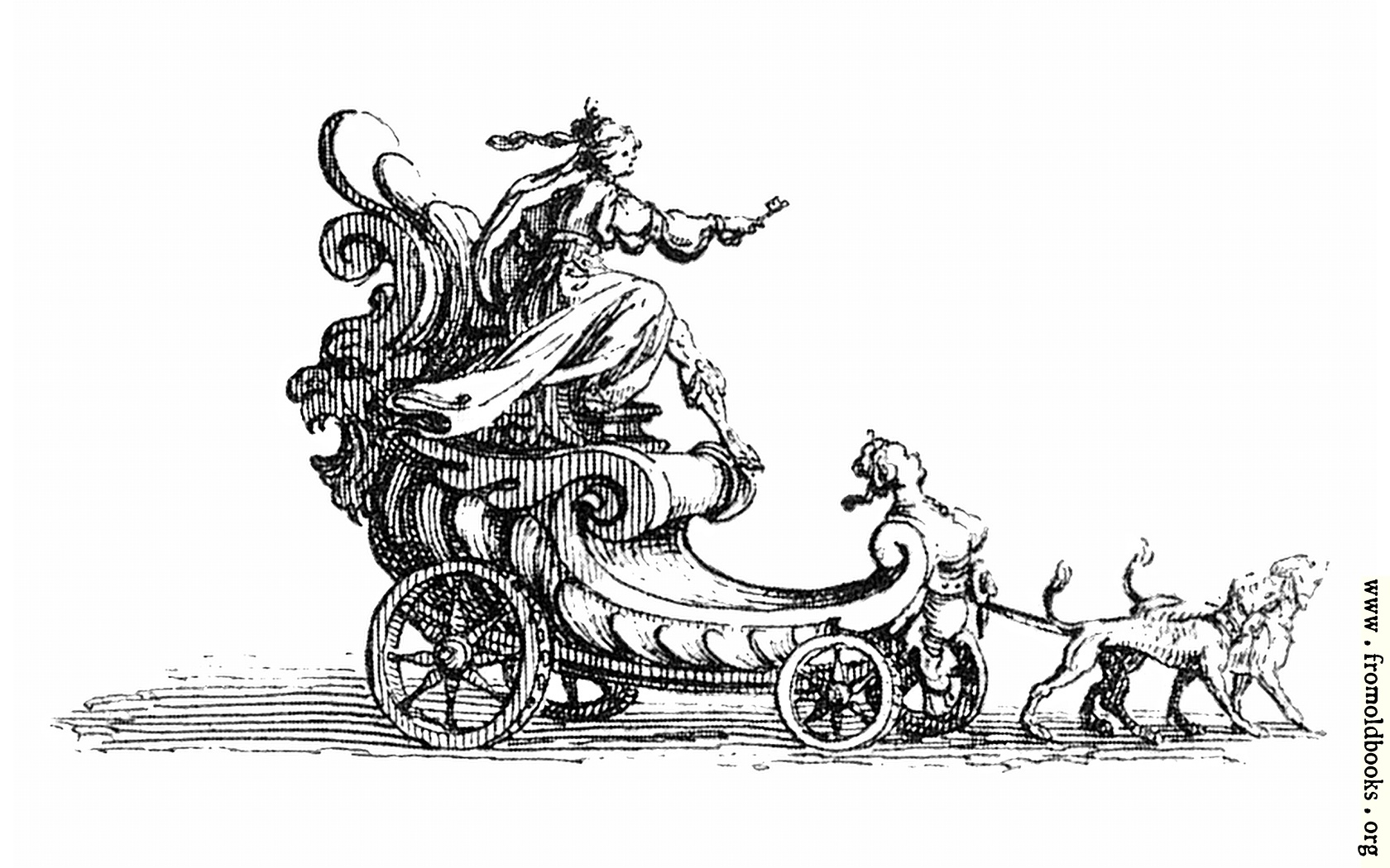 [Picture: Carriage Pulled by Hounds.]