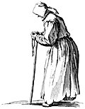 Beggar Woman with Rosary.