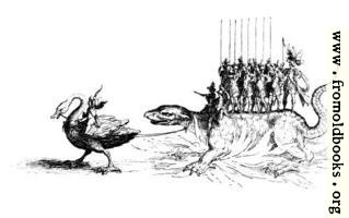 [picture: 206a2: Giant bird pulling a lizard]
