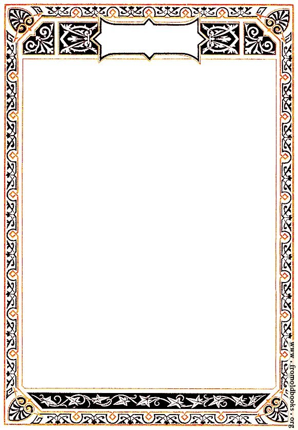 [Picture: Ornate Early Victorian full-page Geometric Border]
