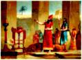 Ashurbanipal sacrificing the lions he has killed