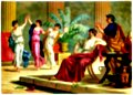 Greek dances after a meal.