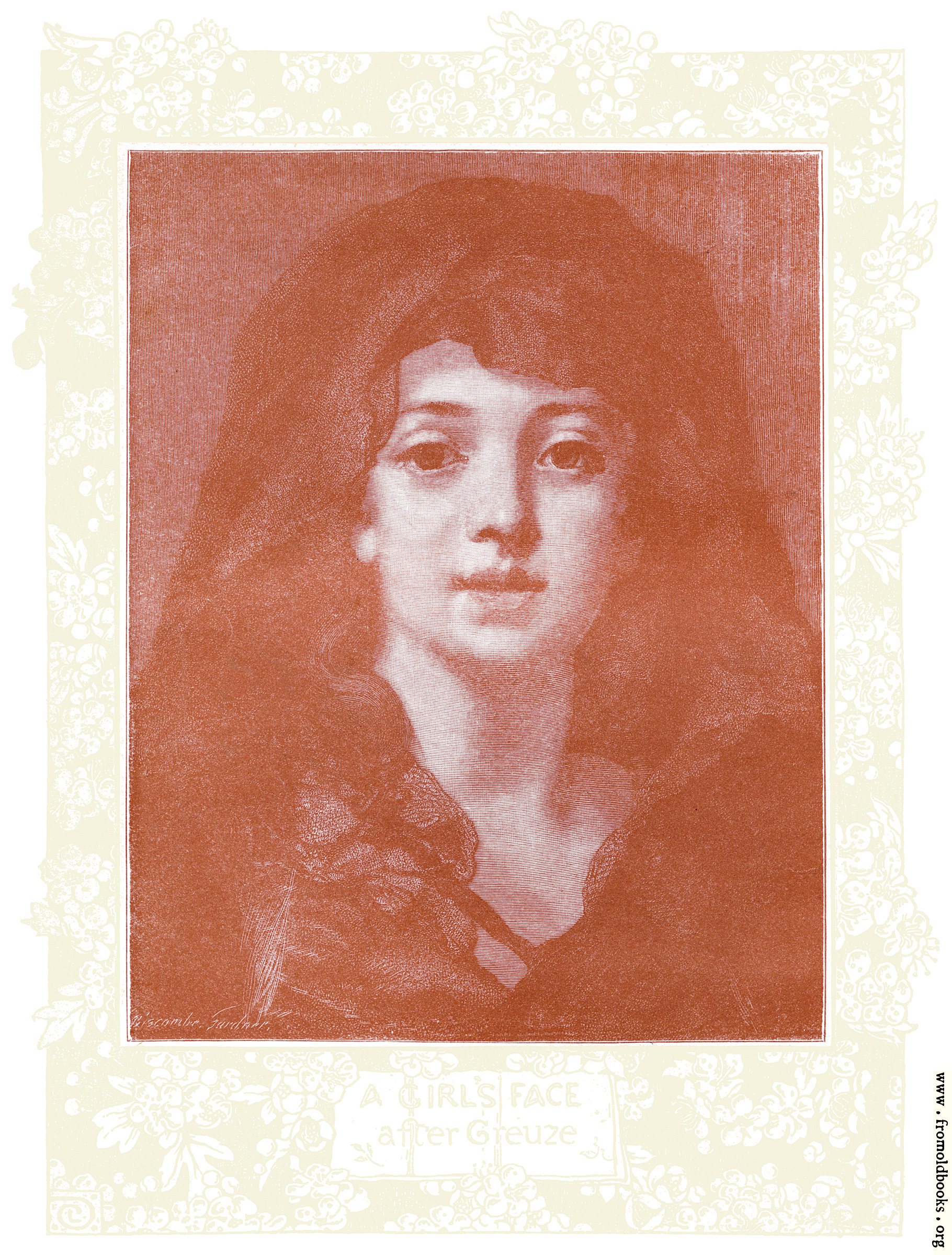 [Picture: Frontispiece: A Girl's Face, after Greuze]