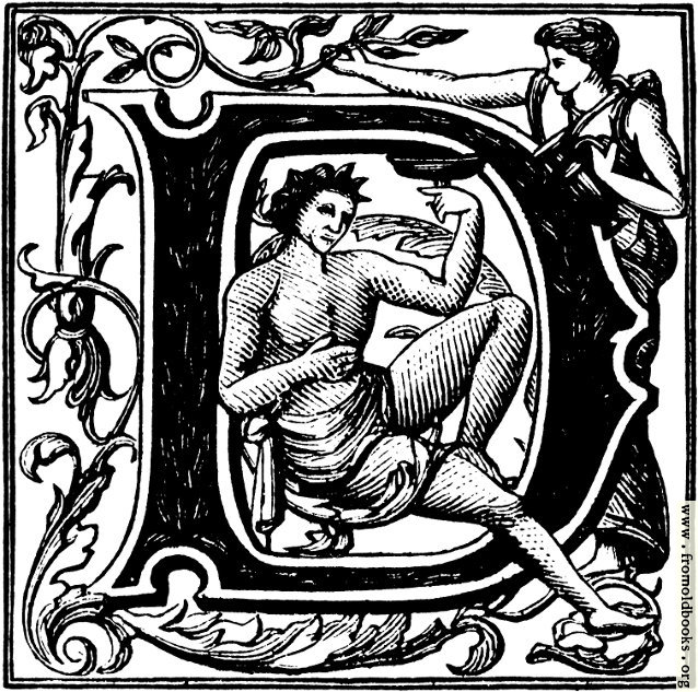 "[Picture: Initial Capital Letter ""D"" with Bacchus]"