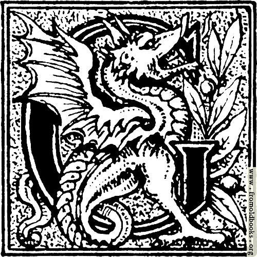 "[Picture: Initial letter ""G"" with a dragon]"
