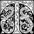 [picture: Decorative Initial T With Dragons (Borderless Version)]