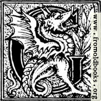 [picture: Initial letter ``G'' with a dragon]