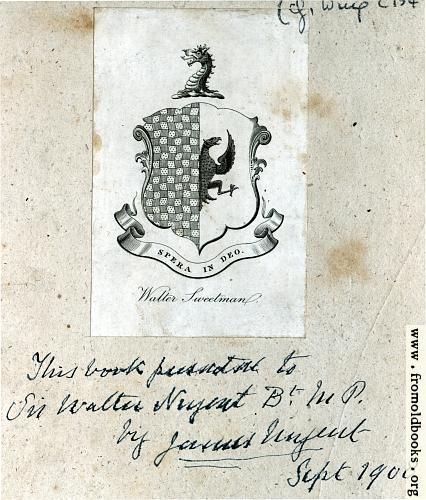 [Picture: Bookplate]
