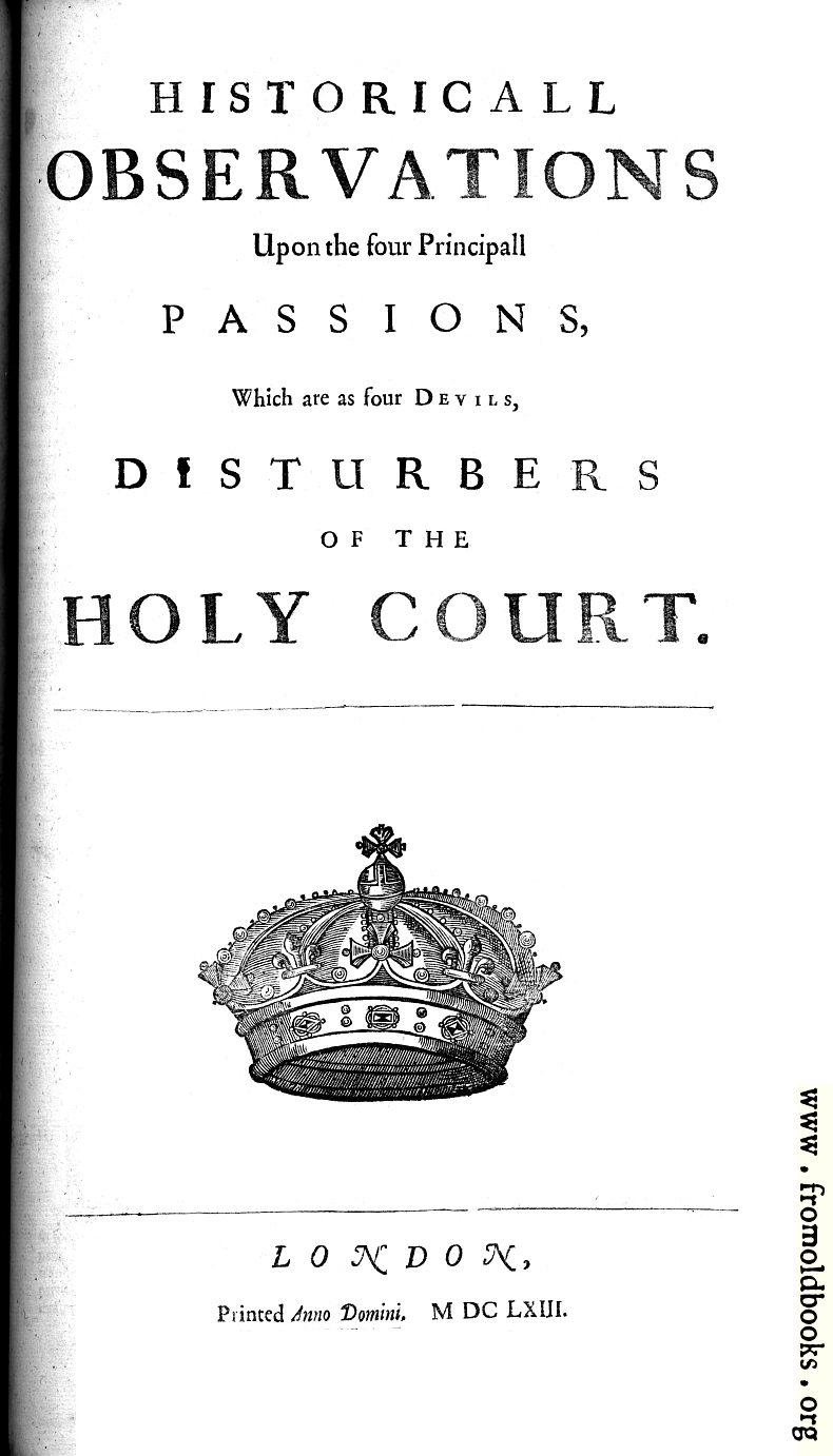 [Picture: Title Page, Historical Observations]