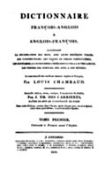 Title Page, Chambaud's Dictionary