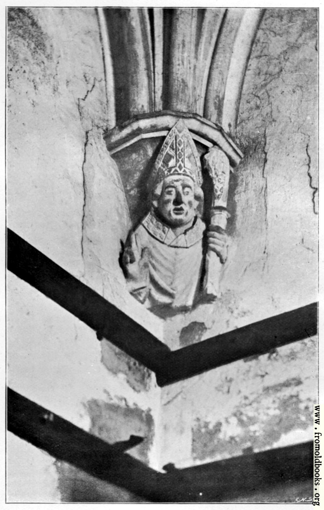 [Picture: Bust of William of Wykeham. 1394.]