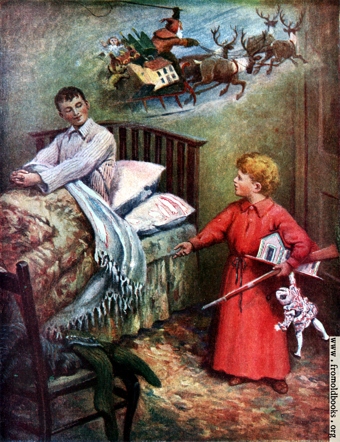 [Picture: Frontispiece: Too Old for a Stocking]