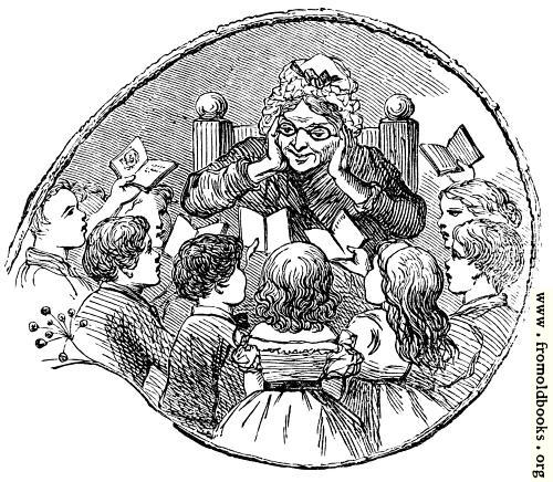 [Picture: Children with their teacher]