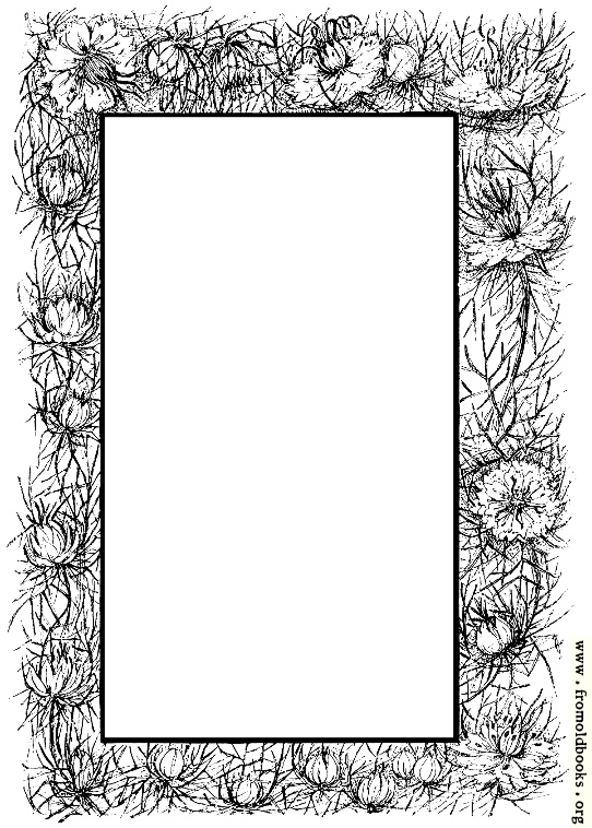 [Picture: Border of flowers and thorns]