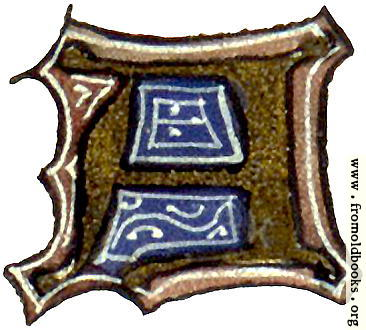 """[Picture: calligraphy: mediaeval decorative letter """"A""""]"""