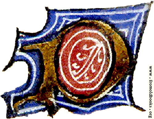 "[Picture: calligraphy: mediaeval decorative letter ""P""]"