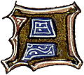 "calligraphy: mediaeval decorative letter ""A"""
