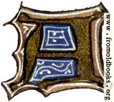 [picture: calligraphy: mediaeval decorative letter ``A'']