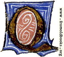 [picture: calligraphy: mediaeval decorative letter ``Q'']