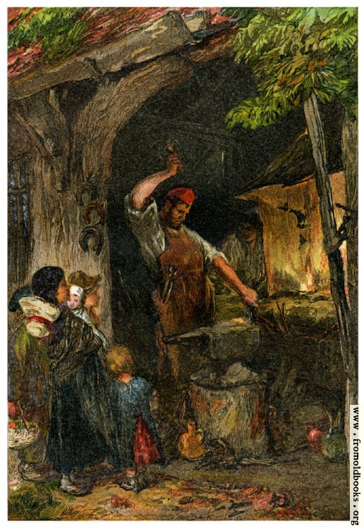 [Picture: The Village Blacksmith]