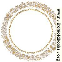 [picture: Vintage gold circular leaf border or frame]