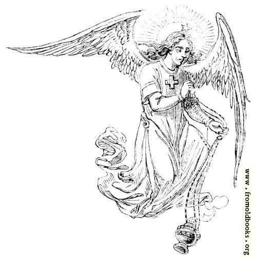 [Picture: Winged angel with incense thurible]