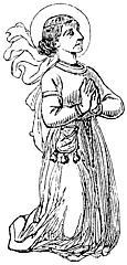 Kneeling saint or nun