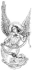[picture: Smiling winged angel with incense]