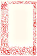Full-page ornate decorative border with Christian figures