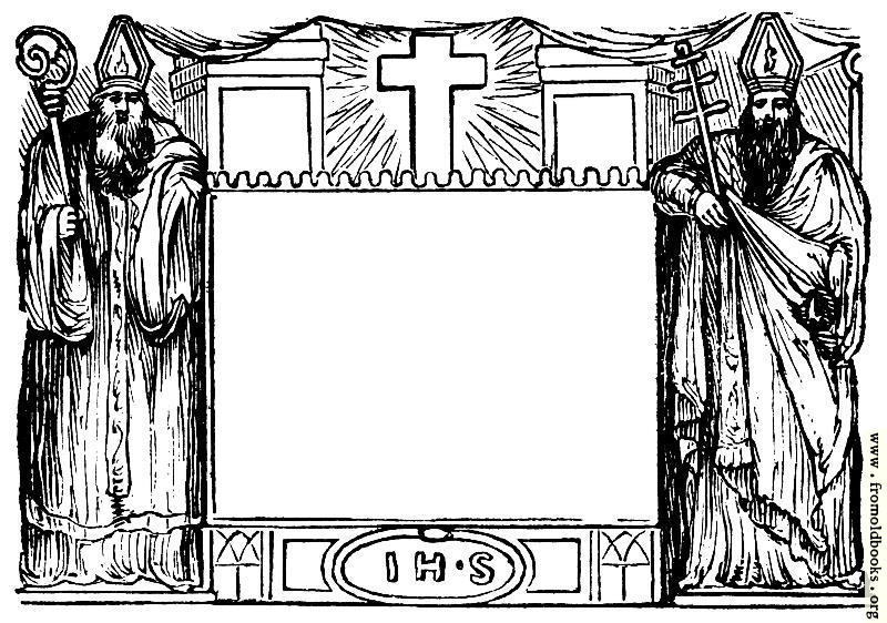 [Picture: 1050.—Border with Bishops]