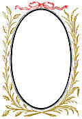 892.—Oval Frame With Leafy Branches