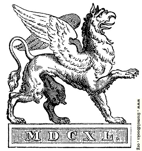 [Picture: Printer's Mark: Gryphon]