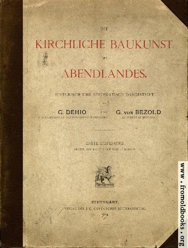 [Picture: Front Cover, Die Kirchliche Baukunst des Abendlandes]