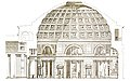 Architectural drawing of the Pantheon in Rome