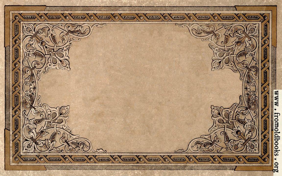 Old Book Front Cover : Vintage ornate border