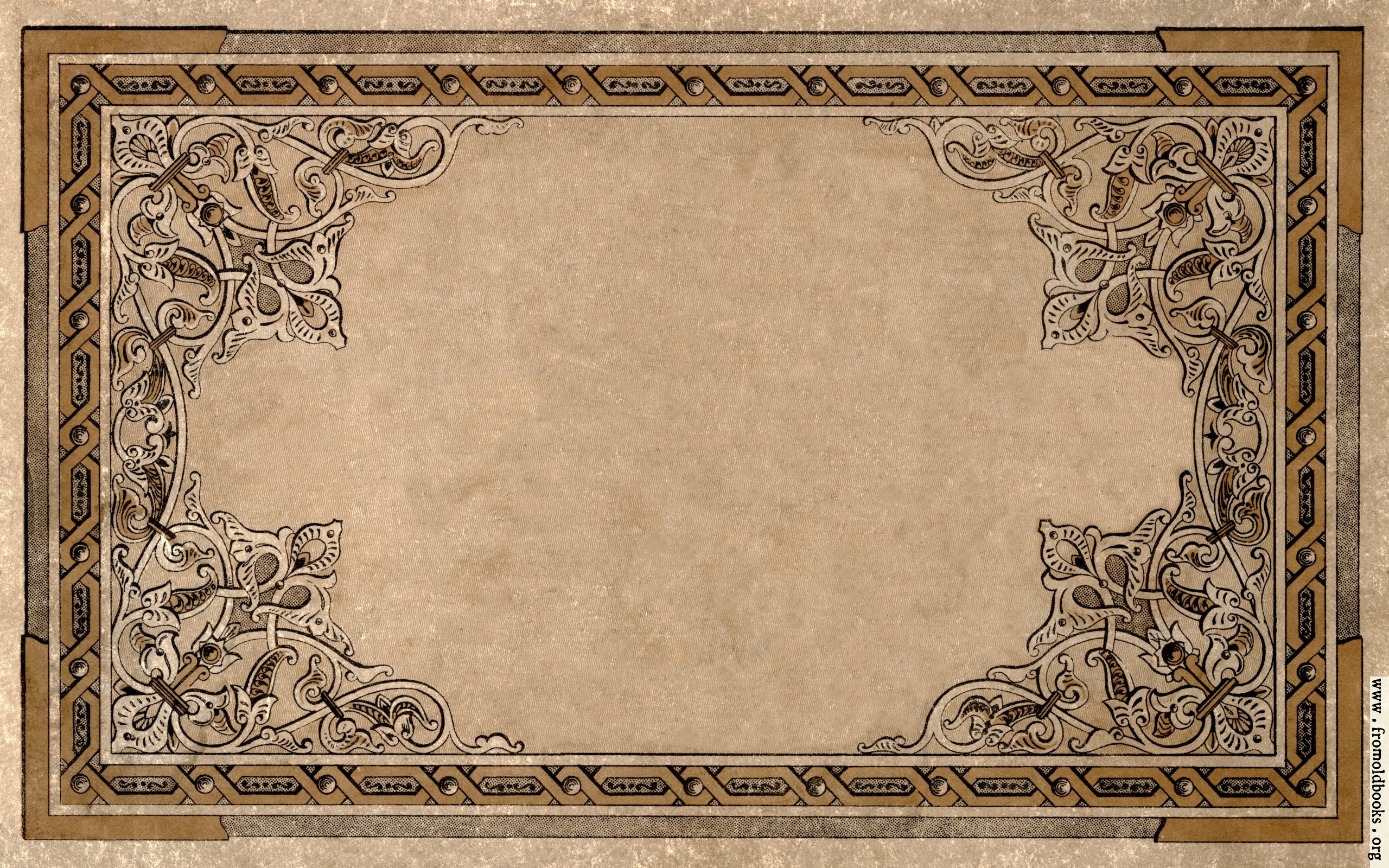 Old Book Cover Background : Vintage ornate border