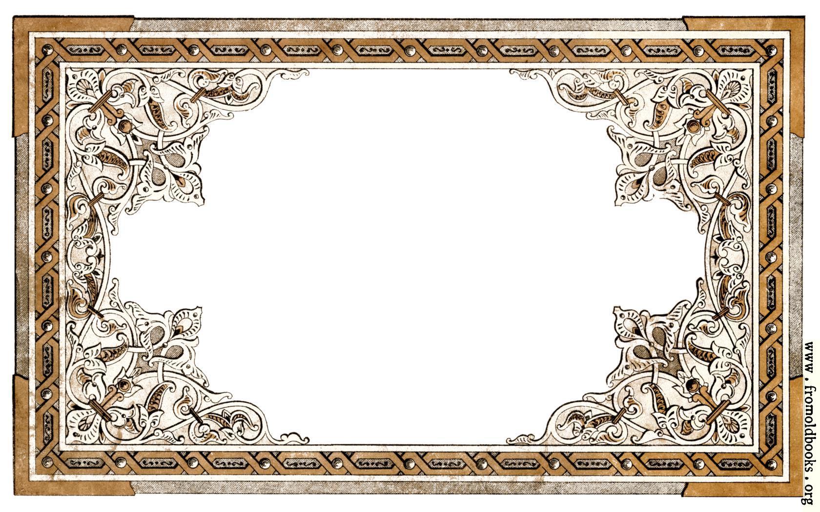 Vintage shabby-chic ornate full-page border