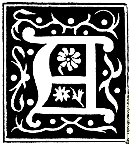 """[Picture: Decorative initial letter """"A"""" from 16th Century]"""