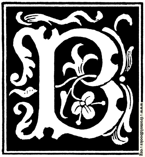 """[Picture: Decorative initial letter """"B"""" from 16th Century]"""
