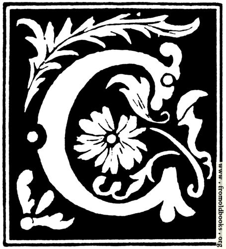 """[Picture: Decorative initial letter """"C"""" from 16th Century]"""