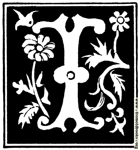 """[Picture: Decorative initial letter """"I"""" from 16th Century]"""