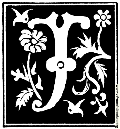 """[Picture: Decorative initial letter """"J"""" from 16th Century]"""