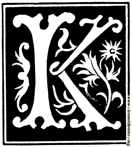 """[Picture: Decorative initial letter """"K"""" from 16th Century]"""