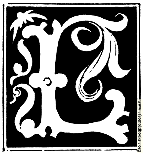 """[Picture: Decorative initial letter """"L"""" from 16th Century]"""