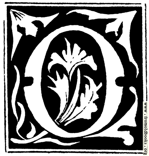 """[Picture: Decorative initial letter """"O"""" from 16th Century]"""