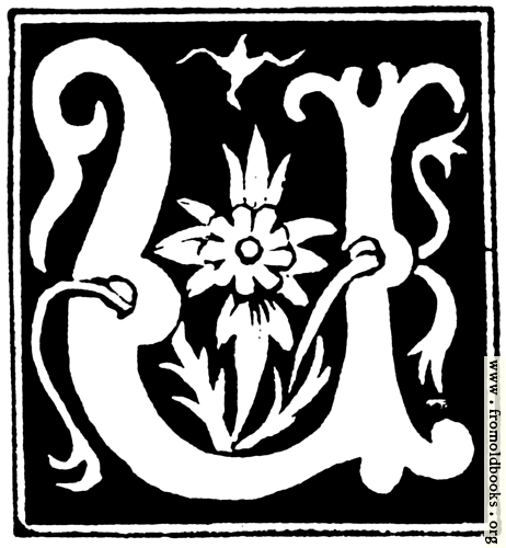 """[Picture: Decorative initial letter """"U"""" from 16th Century]"""